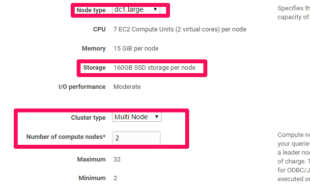 How to setup a Redshift Cluster - Selecting Number of Nodes