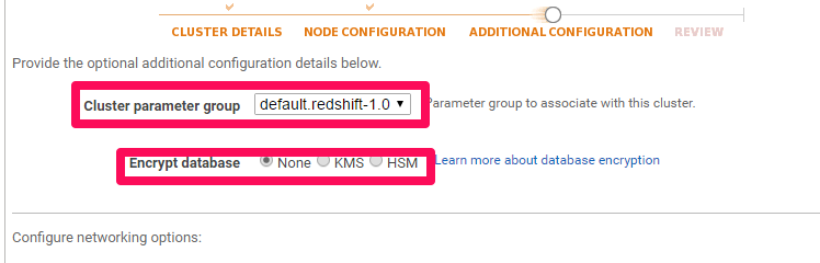 How to setup a Redshift Cluster - Additional Configuration - Database Encryption