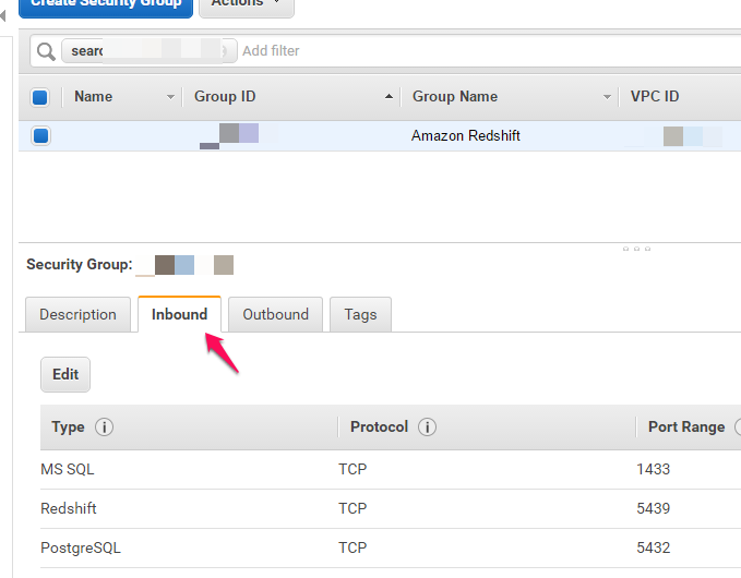 Configure Networking and Amazon Redshift Security Groups - EC2-VPC