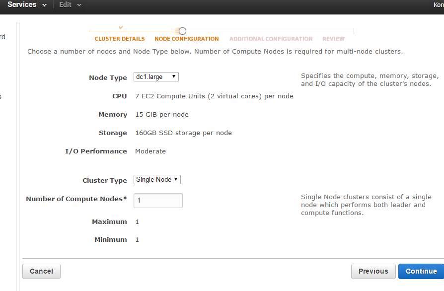 Setting up Amazon Redshift