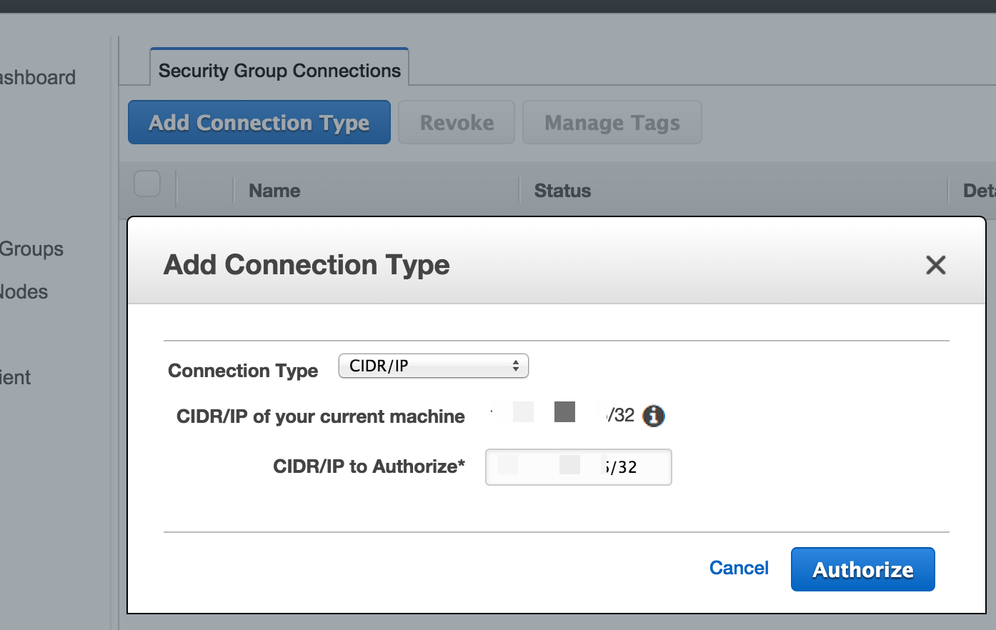 Configure Networking and Amazon Redshift Security Groups - EC2-Classic