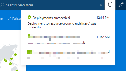 Azure notification