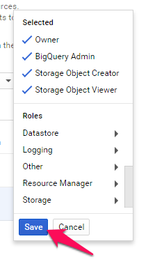 setup google cloud platform member roles