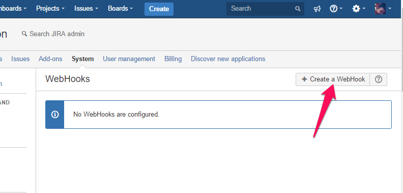 Jira Webhook integration