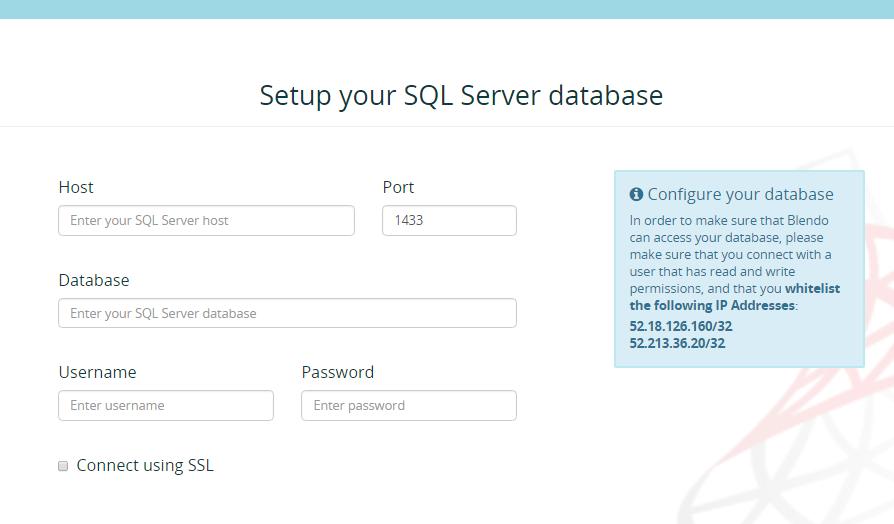 Setup Azure MS SQL Server Integration