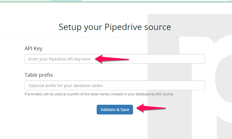 Import your pipedrive data to your data warehouse with our pipedrive integration