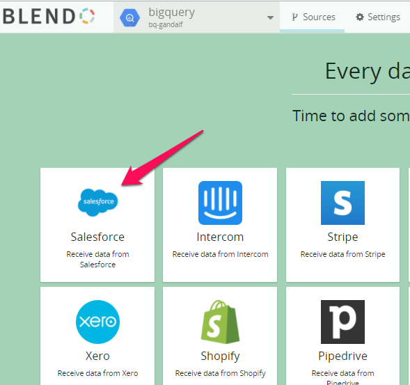 Salesforce Integration and Expected Data - Blendo