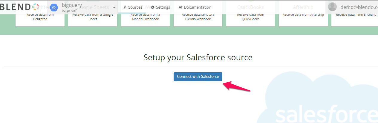 connnect salesforce to your datawarehouse.