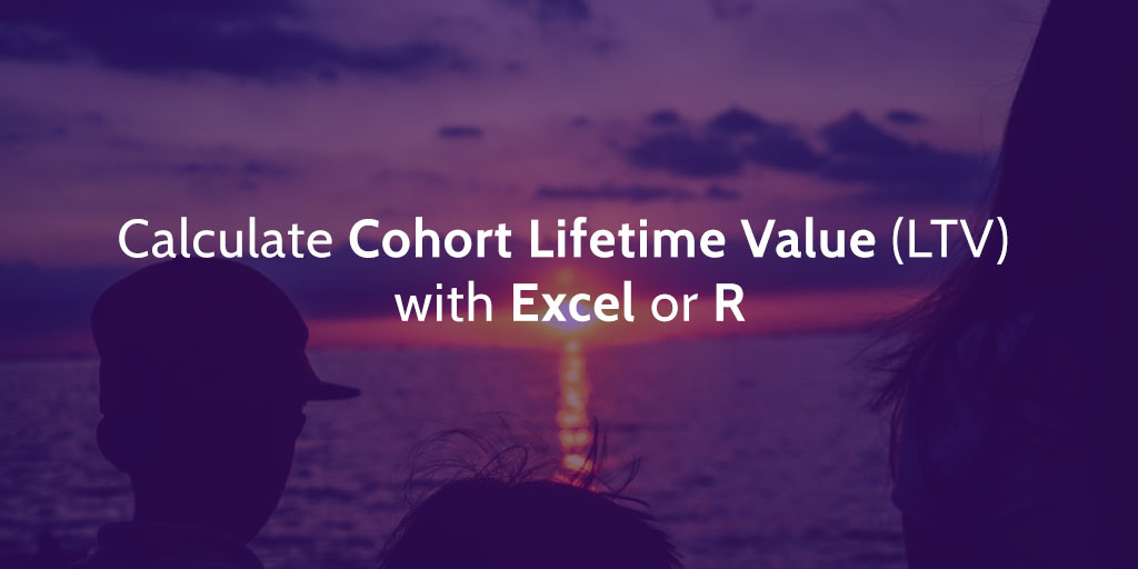 How to Calculate Cohort Lifetime Value (LTV) with Excel or R