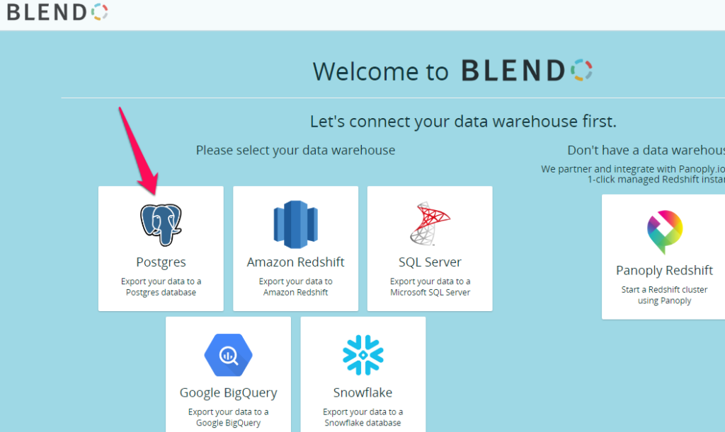 How to connect Google Cloud SQL PostgreSQL with Blendo