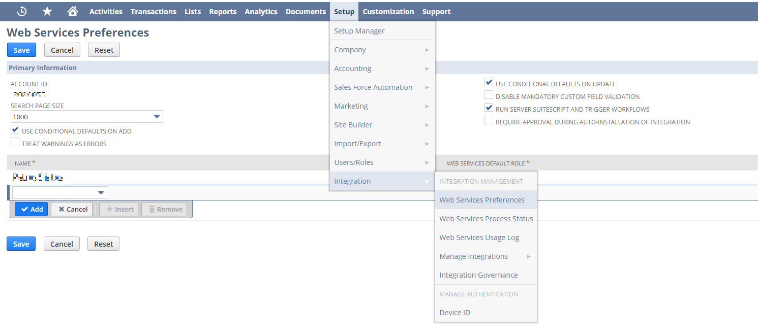 NetSuite Integration and Expected Data - Blendo