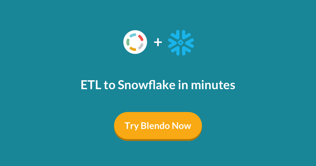 ETL to Snowflake in minutes